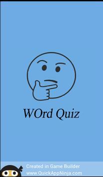Words Quiz poster