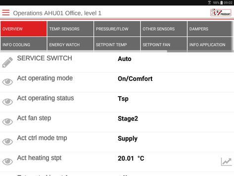 IV Produkt AHU Controls screenshot 7