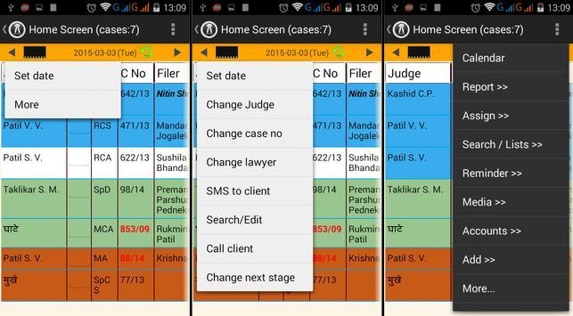 lawyer diary (www.sifr.in) apk screenshot