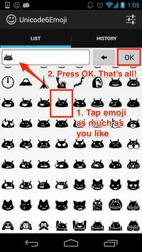 Unicode6Emoji apk imagem de tela