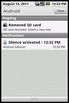 Silent Droid (with widget) screenshot 3