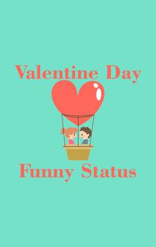 Valentine Day Funny Status poster