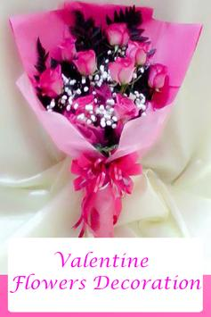 Valentine Flowers Decoration poster