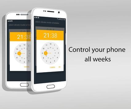 Silent Vibrate mode scheduler. apk screenshot