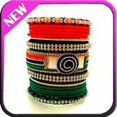 Silk thread bangles icon
