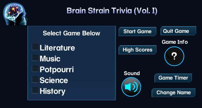 Brain Strain Trivia Vol.(I) screenshot 8