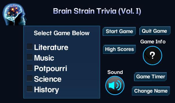 Brain Strain Trivia Vol.(I) screenshot 9