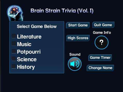 Brain Strain Trivia Vol.(I) poster