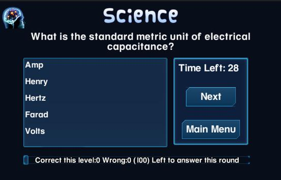 Brain Strain Trivia Vol.(I) screenshot 3