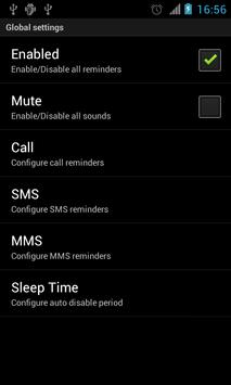 Comms Reminder screenshot 2