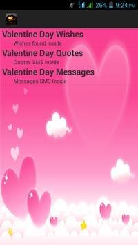 Happy Valentine Day SMS poster