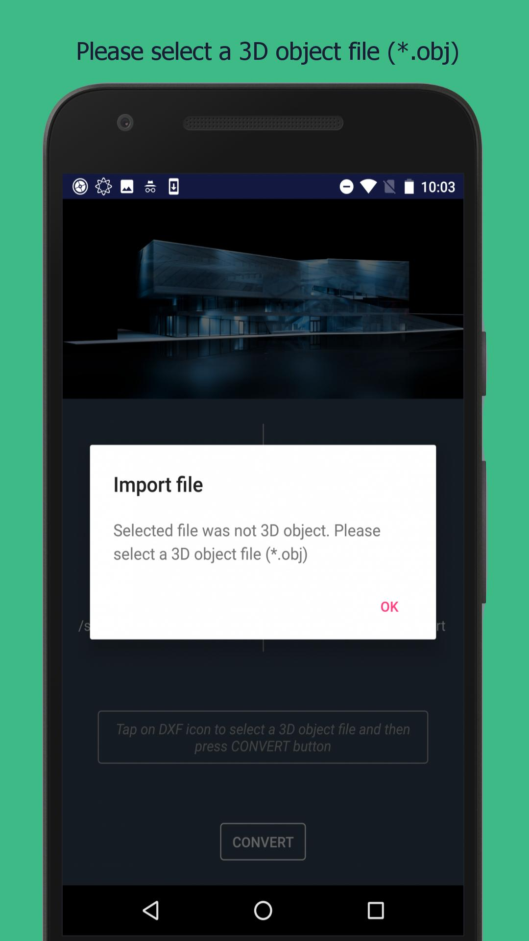 OBJ to DXF for Android - APK Download