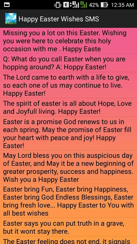 Happy easter wishes sms apk download free entertainment app for happy easter wishes sms poster happy easter wishes sms apk screenshot m4hsunfo
