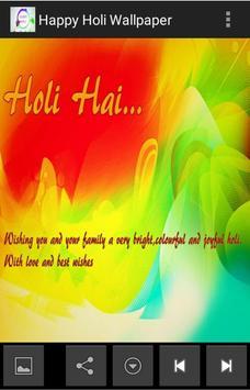 Happy Holi Wallpaper screenshot 4
