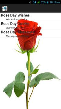 Happy Rose Day SMS poster