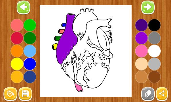 Anatomy Coloring Book Apk Screenshot