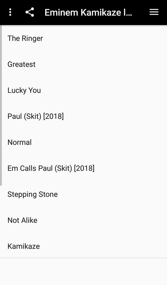 Eminem Kamikaze lyrics 2018 for Android - APK Download