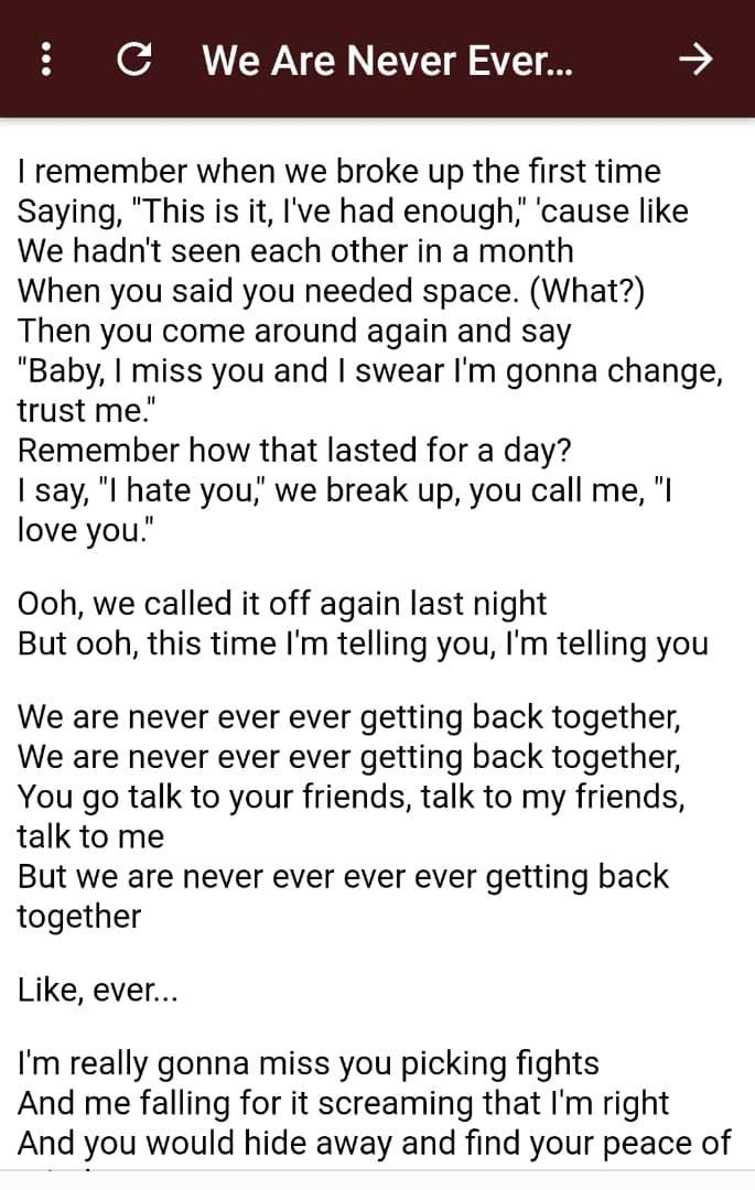 Taylor Swift Red Lyrics For Android Apk Download