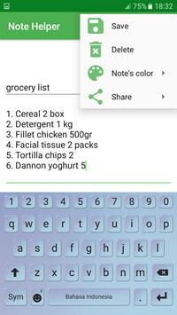 NoteHelper apk screenshot