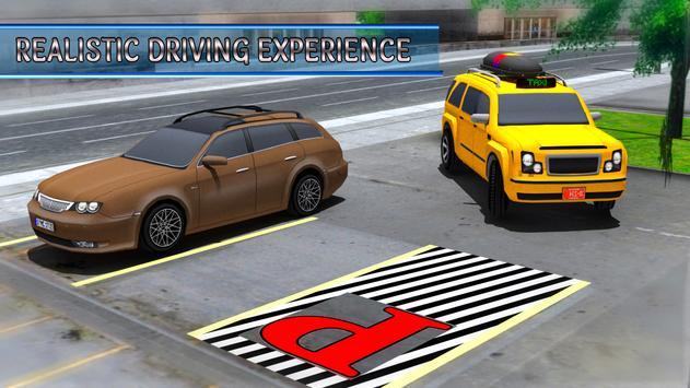 City Taxi Parking Driving Mania Game 3D screenshot 9