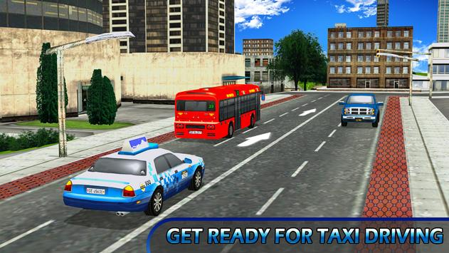 City Taxi Parking Driving Mania Game 3D poster