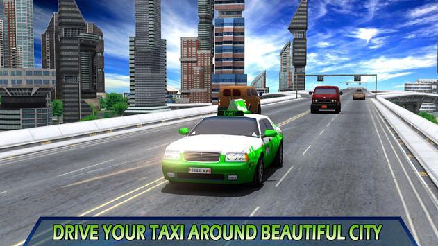 City Taxi Parking Driving Mania Game 3D screenshot 1