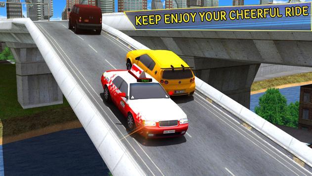 City Taxi Parking Driving Mania Game 3D screenshot 3