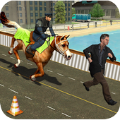 City Horse Police Simulation Crime Chase game free icon