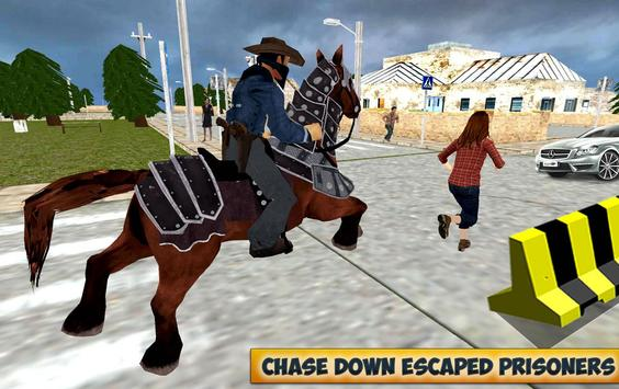 City Horse Police Simulation Crime Chase game free poster