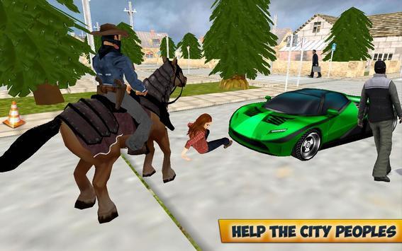 City Horse Police Simulation Crime Chase game free apk screenshot