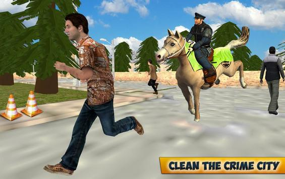City Horse Police Simulation Crime Chase game free screenshot 1