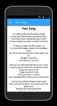 Elton John Top 30 Song Lyrics apk screenshot