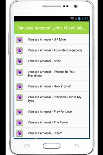 Vanessa amorosi discography wikipedia.