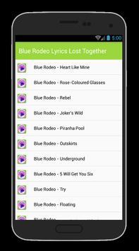 Blue Rodeo Lyrics poster