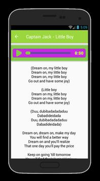 Captain Jack Lyrics apk screenshot