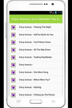 Every Avenue Lyrics apk screenshot