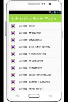 Evidence Lyrics apk screenshot