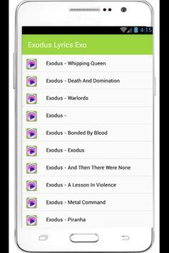 Exodus Lyrics apk screenshot