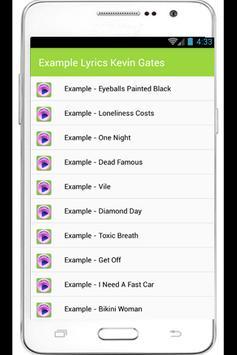 Example Top Lyrics apk screenshot