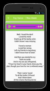 Foy Vance Lyrics apk screenshot