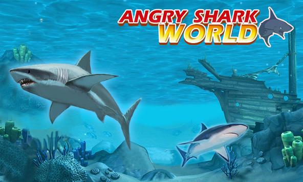 ANGRY SHARK WORLD 3D poster