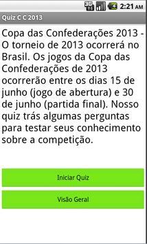 Quiz Copa das C 2013 screenshot 1