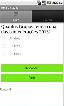 Quiz Copa das C 2013 screenshot 2