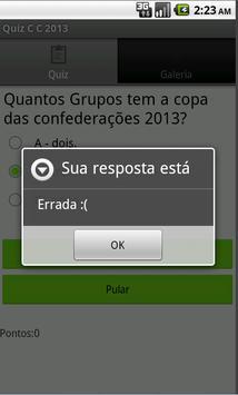 Quiz Copa das C 2013 screenshot 3