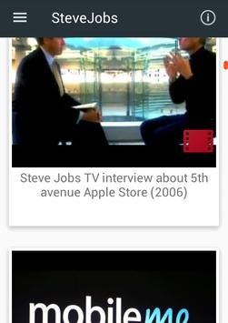 Steve Jobs videos apk screenshot