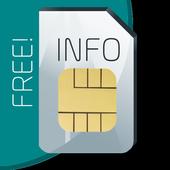 Información e IMEI tarjeta SIM icono