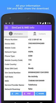 SIM Info IMEI & Contact check for Android - APK Download