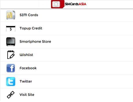 SIM Cards Asia screenshot 1