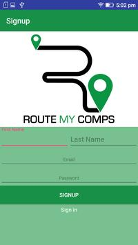RouteMyComps apk screenshot