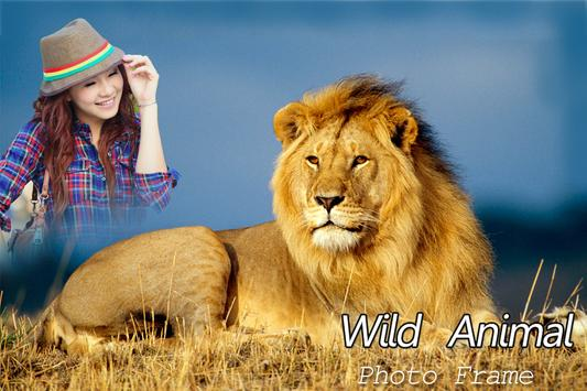 Wild Animal Photo Frame Booth poster